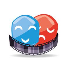 filmstrip with genres scene to short film vector image vector image