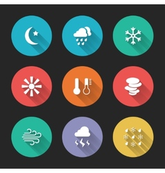 Set of meteorological icons vector image vector image