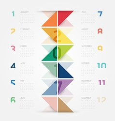 2017 Calendar colorful concept design vector image