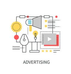 Advertising modern concept vector