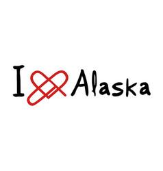 alaska love message vector image