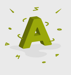 Alphabet 3d logo - letter vector