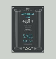 American memorial day sale banner vector