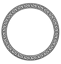 ancient greek frame vector image