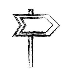 Arrow road sign icon vector