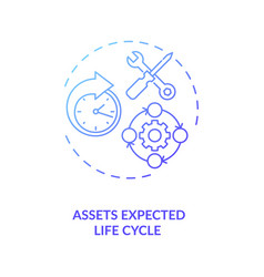 Assets expected life cycle concept icon vector