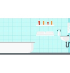 Background of private bathroom vector image