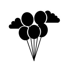 balloons party isolated icon vector image