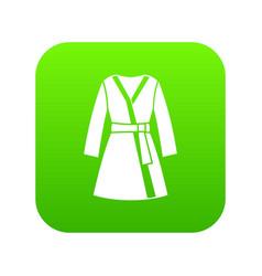 bathrobe icon digital green vector image