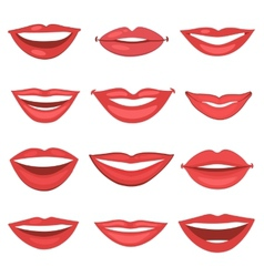 Beautiful lips collection vector