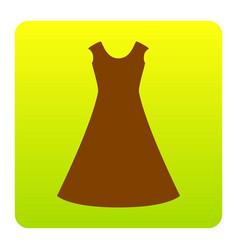beautiful long dress sign brown icon at vector image