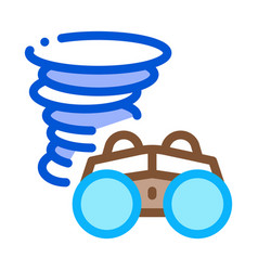 binocular tornado icon outline vector image