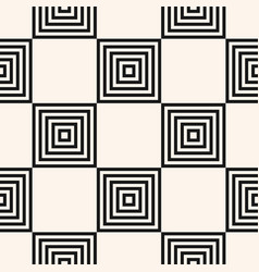 black and white geometric seamless squares pattern vector image
