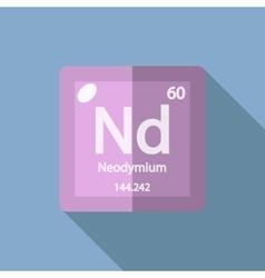 Chemical element Neodymium Flat vector