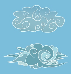Chinese clouds vector