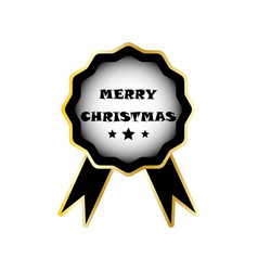 christmas badge image vector image