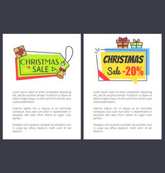christmas sale -20 off set vector image