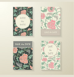 collection ornamental colored antique floral vector image