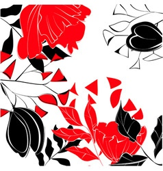 contrast floral background vector image