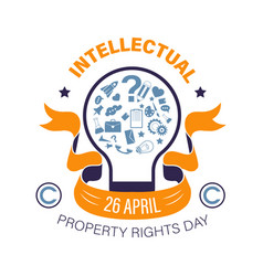 Copyright or intellectual property right day vector