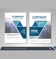 Corporate and business brochure templates vector