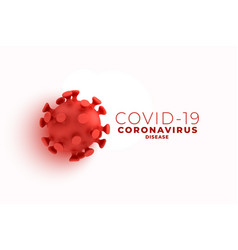Covid19 coronavirus background with 3d cell design vector