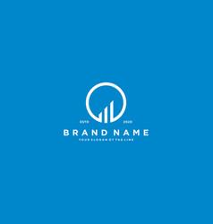 Creative letter o financial chart logo design vector