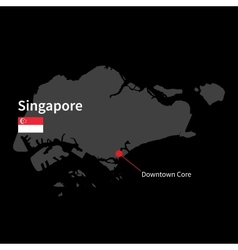 detailed map singapore and capital city vector image