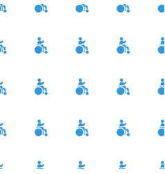 Disabled icon pattern seamless white background vector