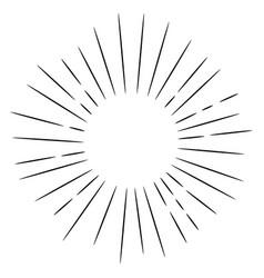 doodle design element starburst hand drawn vector image