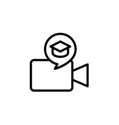 e learning video icon sign vector image