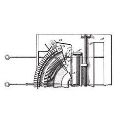 Early design typewriter vintage vector