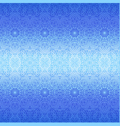 ethnic seamless pattern background with floral vector image