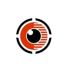 eye lens vision abstract logo icon vector image
