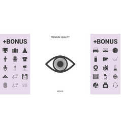 eye symbol icon with iris - graphic elements for vector image