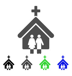 family church flat icon vector image