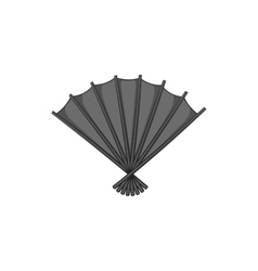 Fan icon black monochrome style vector image