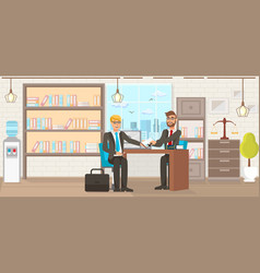 Flat law firm consumer protection services vector
