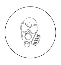 gas masks icon outline single weapon icon from vector image
