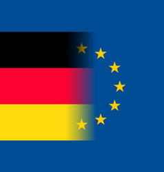 Germany national flag with a star circle of eu vector