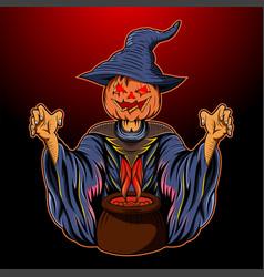 Halloween pumpkin esport mascot logo vector