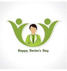 happy doctors day- 1 july stock vector image