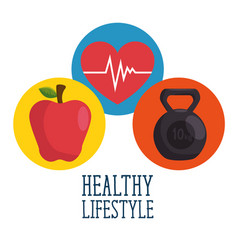 healthy lifestyle concept design vector image