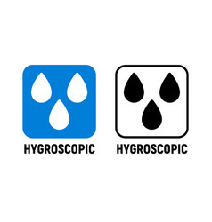 hygroscopic icon hygroscope sign isolated vector image
