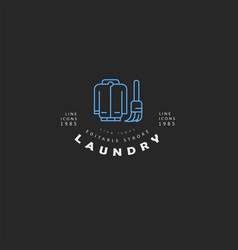 icon and logo for laundry and dry clinning vector image