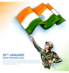 Indian army soldier nation hero on pride vector