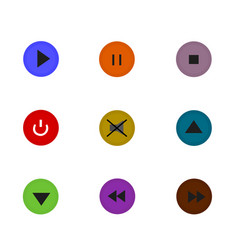 isolated control button flat icon vector image