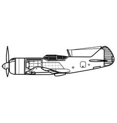 lavochkin la-7 fin vector image