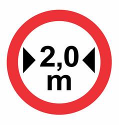 Maximum width traffic sign vector