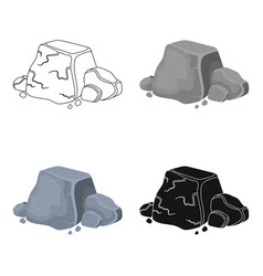 Metal ore icon in cartoon style isolated on white vector